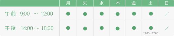 川越歯科医院 診療時間表